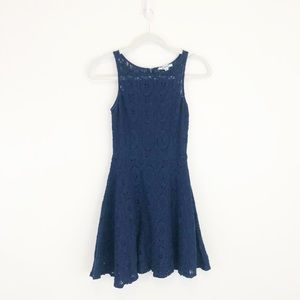 BB Dakota Renley Lace Fit and Flare Dress Navy